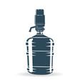 water pump bottle blue vector image vector image