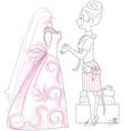 wedding dressmaker vector image