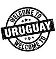 welcome to uruguay black stamp vector image vector image