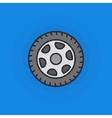 Wheel flat icon vector image vector image