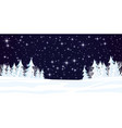 winter landscape with forest vector image vector image