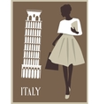 Woman in Italy vector image