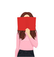 woman reading book vector image vector image
