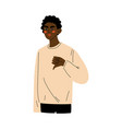 young african american man showing dislike sign vector image vector image