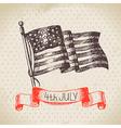 4th july vintage background vector image vector image