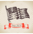4th of July vintage background