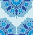 7 Ornamental corners flowers silhouette pattern vector image