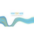 abstract website header blue wave style vector image