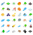 animal of earth icons set isometric style vector image vector image