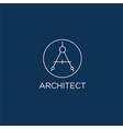architect logo a monogram
