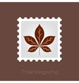 Autumn Leaves stamp vector image vector image