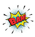 bam comic bubble vector image vector image