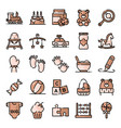 bashower icons pack vector image