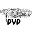 best dvds for your personal dvd player text word vector image vector image