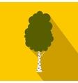 Birch tree icon flat style vector image vector image