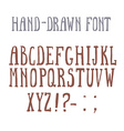 Bold hand-drawm font in the western style vector image