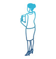 business woman back view vector image
