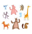 cartoon of funny animals vector image