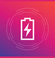 charging battery icon pictogram vector image vector image