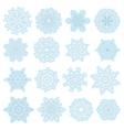 christmas snowflake set eps 10 vector image
