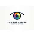 color vision camera eye creative symbol concept vector image vector image