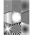 comic monochrome vertical concept vector image vector image