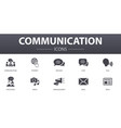communication simple concept icons set contains vector image vector image