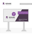 company advertisment on sign board with logo and vector image