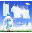 container with laundry detergent vector image vector image