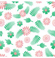cute flower seamless pattern background vector image