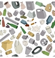 Different kinds of garbage Seamless pattern vector image vector image