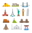 Famous architecture world travel landmarks vector image vector image