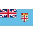 Flag of Fiji in correct size and colors vector image vector image