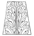 french leaf renaissance design tend to look more vector image vector image