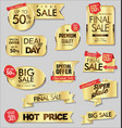 golden sale banners and special offer tags vector image vector image