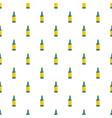 green bottle of beer pattern seamless vector image vector image