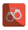 Handcuffs justice isolated icon