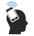 Head Smartphone Plugin Ring Eps Icon vector image vector image
