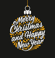 Holidays greeting card Merry Christmas and Happy vector image
