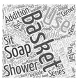 How to choose your right shower basket Word Cloud vector image vector image