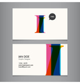 I business card vector image vector image