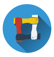 Icon of Crossed hands vector image vector image