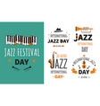 jazz festival musical instruments music genre vector image