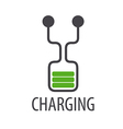 logo abstract battery charge vector image vector image