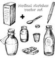 Medical sketches set vector image