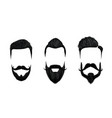 men hair and moustache styling vintage gentleman vector image