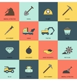 Mining icons line flat vector image vector image