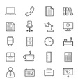 Office and Business Icons Line vector image