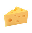 piece of maasdam cheese vector image vector image