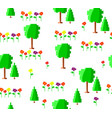 pixel art green summer or spring trees collection vector image